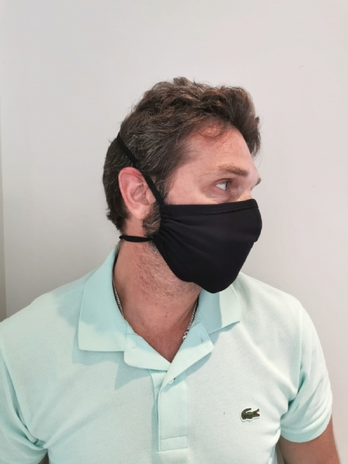 The Smart Mask, 3 layers with filter, for men