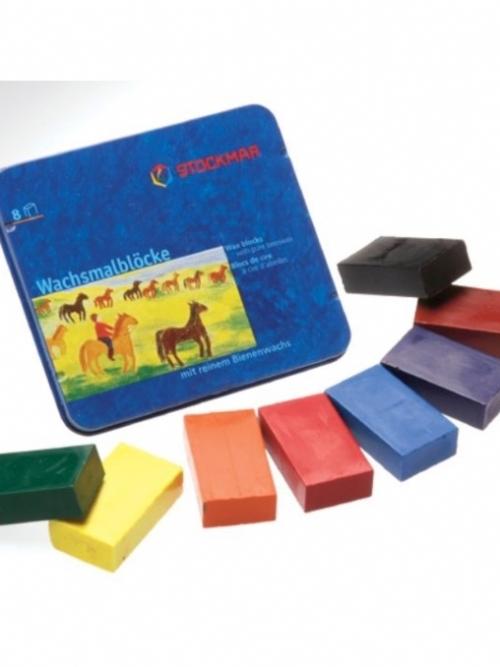STOCKMAR Wax Blocks - 8 colours