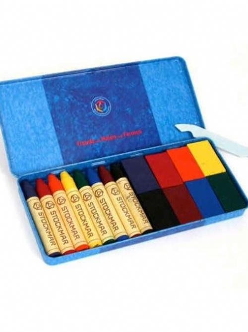 STOCKMAR Wax Crayon/Block Combination Set - 16 pieces