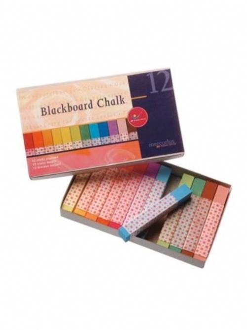 Mercurius Blackboard Chalk - 12 chalks