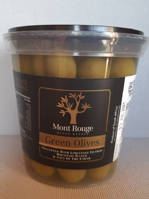 Mont Rouge Green Olives