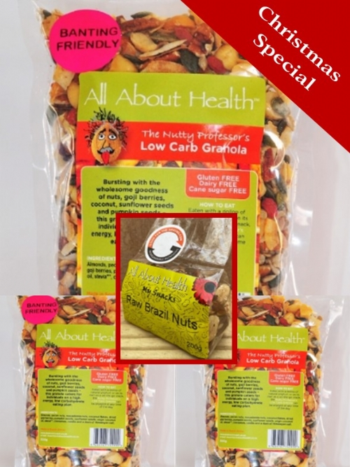 3 Nutty Professor plus Brazil Nuts 200g FOR FREE