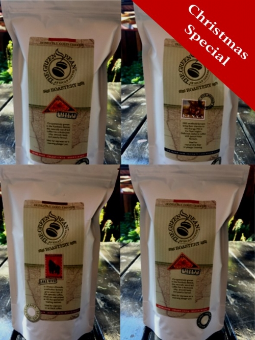 Set of 4 packs of coffee beans