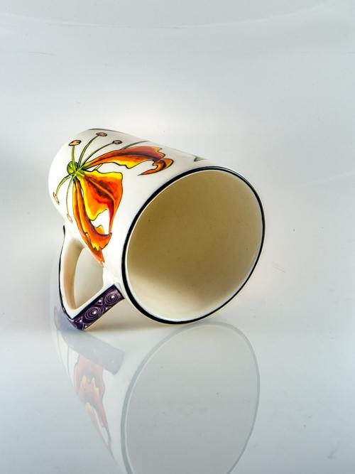 Coffee Mug Flame Lily