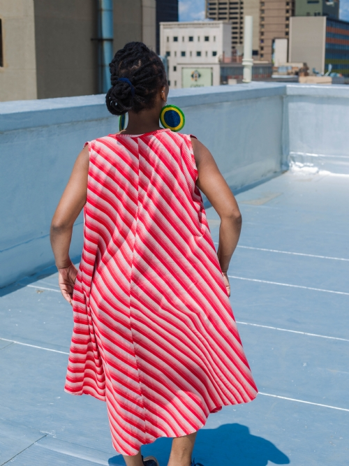 Tent Dress - Red and White