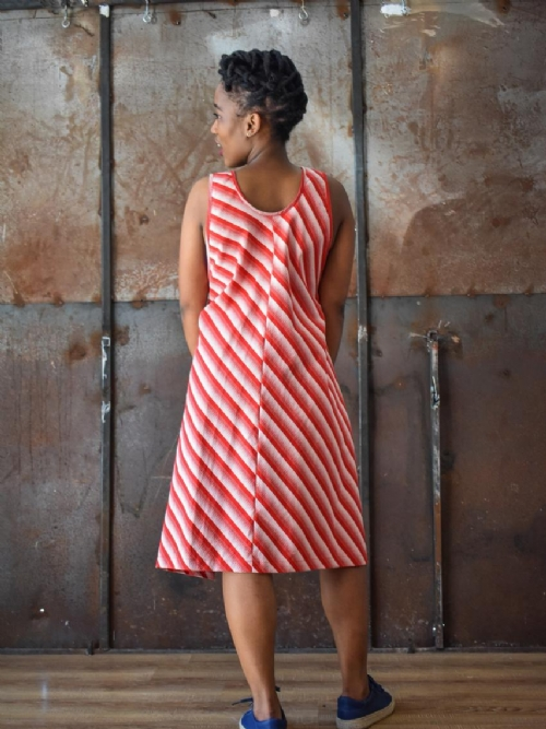 Apron Dress - Red and White