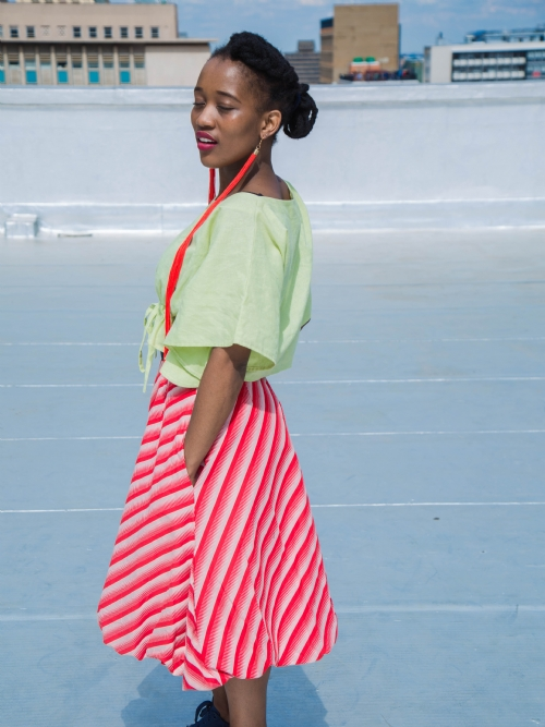 Balloon Skirt - Red And White