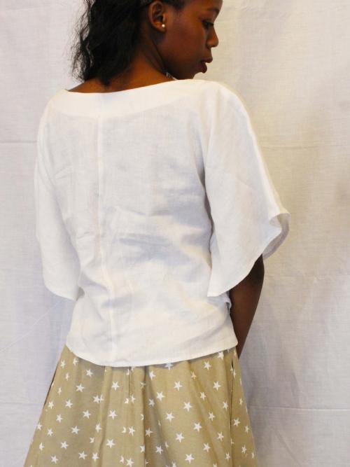 RQC Long Balloon Skirt - Fawn and White Stars
