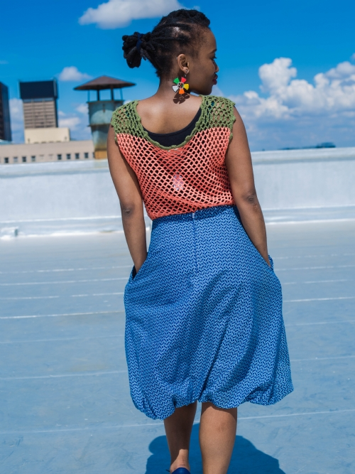 Crocheted Top - Olive Shoulders