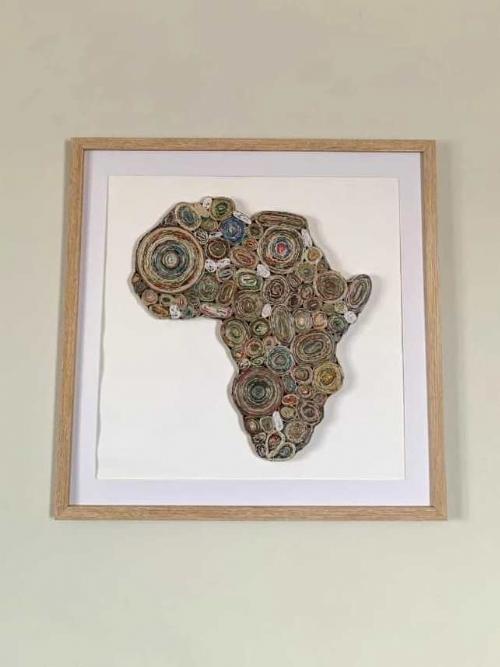 Newspaper Africa Map - Medium