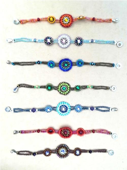 Bracelet With Centred Mandala