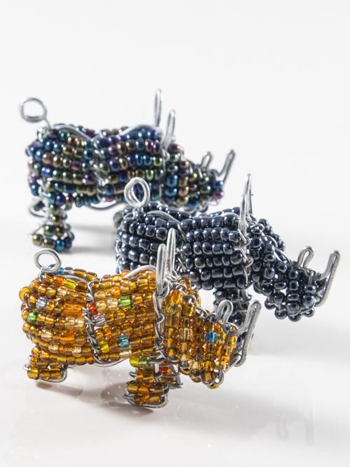 Rhino Keyring/Zip-Puller