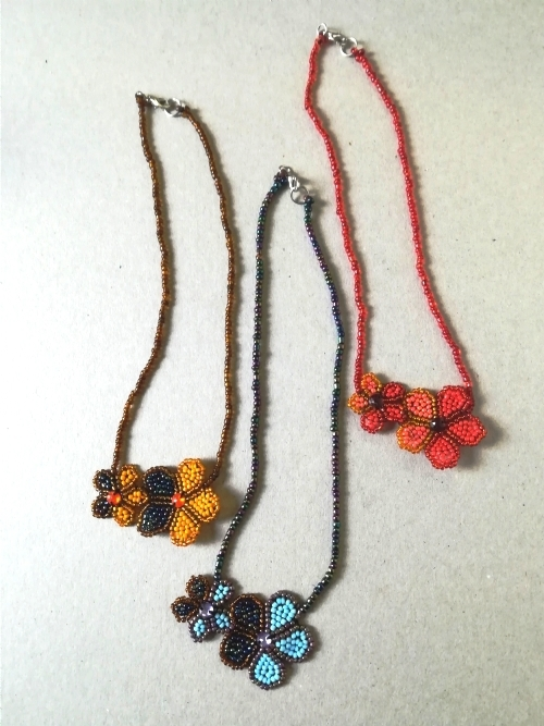 Double Daisy Necklace