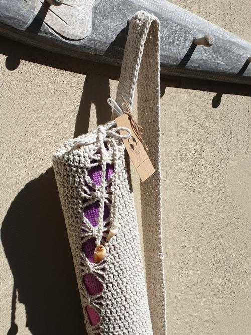 Crocheted Yoga Mat Bag