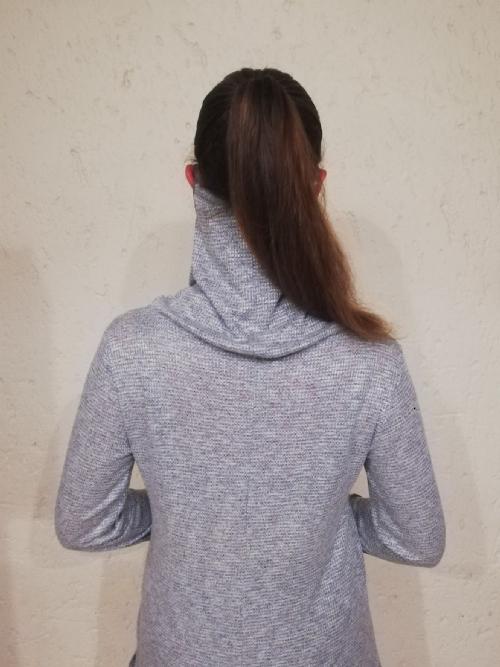 Face Mask Polar Neck Top, dove grey