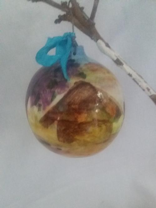 Hanging Ornament with Jacaranda Day