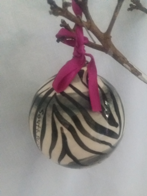 Hanging Ornament Black and White Zebra Print