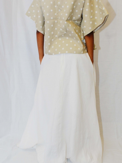 RQC Long Balloon Skirt - White