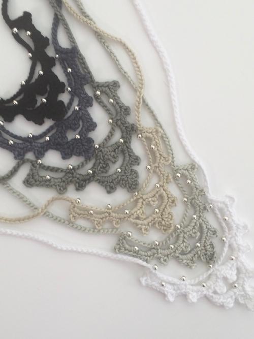 Irish Crochet Necklace (Bamboo)