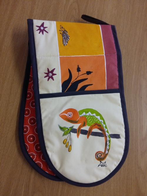 Double Oven Gloves Chameleon