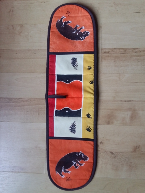 Double Oven Gloves Hippopotamus - Orange