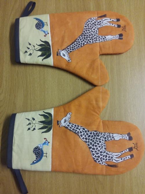 Oven Gloves Giraffe