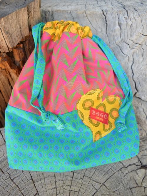 Drawstring Bag & Pencil Case Set - Pink