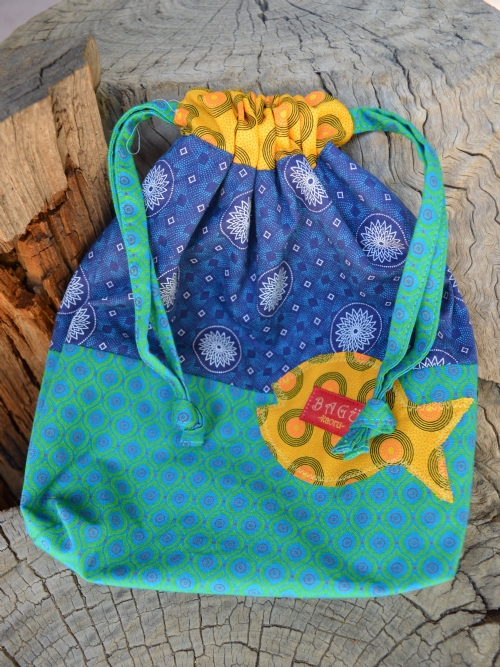 Drawstring Bag & Pencil Case Set - Blue