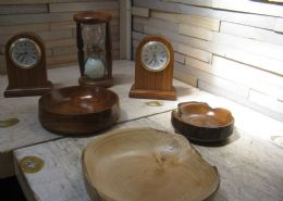 Wood Clocks, Kaleidoscopes, Biltong Cutters, Cuff Links, Crystals