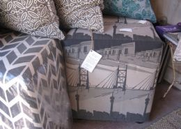Re-upholstery of furniture and curtains
