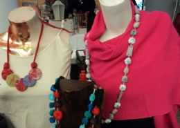 Recycled textile necklaces