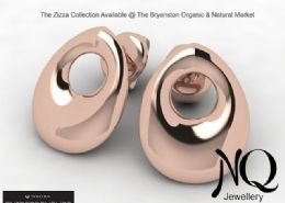 Zizza stud earrings, Rose gold