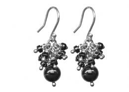 Hematite cluster earrings