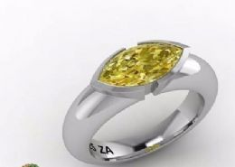 Gem-shield ring, Carat citrine