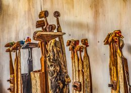 Mozambican wooden fine art from Tambotie/ Ebony