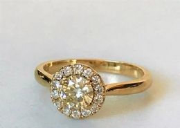 9ct Gold & Diamond dress ring