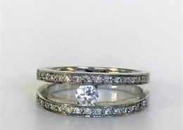 18ct White Gold & Diamond Ring