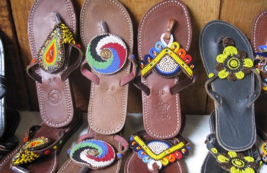 African Beaded Sandal Traders
